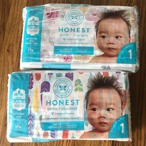 The Honest Company Diapers size 1 for girls